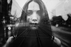 Unravel (ewitsoe) Tags: atmosphere autumn city fog mgla moody morning street warszawa erikwitsoe night poland urban warsaw yuliia doubleexposure graphic bnw monochrome cityscape cinematic blackandwhite woman sexy contrast feminine female
