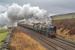 Drizzle and Steam on theSettle. (DWH284) Tags: 35018 britishindialine thelongdrag settletocarlislerailway steamtrain ribblesdale selside hortoninribblesdale uksteam