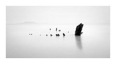 G H O S T - S H I P (Andrew Hocking Photography) Tags: helvetia wreck gower peninsula rhossili swansea ship shipwreck wales southwales coast seaside coastal sea ocean water longexposure leefilters stumps bay beach landscape wormshead minimal simple overcast hightide mono monochrome blackwhite