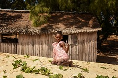 Beach Girl (Rod Waddington) Tags: africa african afrique afrika madagascar malagasy girl culture cultural child portrait beach hut trees outdoor