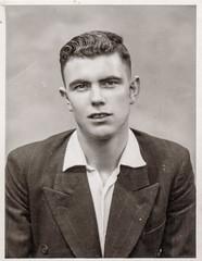 Young man studio portrait (Colin John Ford) Tags: found man old portrait studio vintage