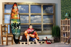time off at long island beach (photos4dreams) Tags: barbie mattel doll toy photos4dreams p4d photos4dreamz barbies girl play fashion fashionistas outfit kleider mode puppenstube tabletopphotography diorama scenes 16 canoneos5dmark3 ken bmr1959 madetomove male man deboxed kay