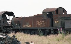 1 MILLION MILES -WHAT ARE THE CHANCES (Malvern Firebrand) Tags: gwr 262t 5526 remains ruins historical southwales wales barry scrapyard may 1982 prairie tank tankengine loco locomotive engine rusting glamorgan docks scrap outdoors 1980s southdevon devon railway trains 4575 great western