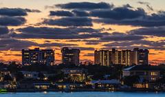 Boca Ciega Bay (vwalters10) Tags: sunset clouds sky water bay house trees