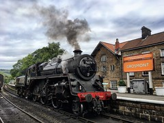 ULMS8222 (tonywinward2) Tags: loco locomotive locomotion uk england heritage train britain yorkshire united great north railway kingdom trains steam line moors northern nymr 2019 rail station grosmont