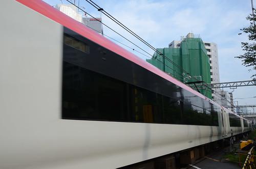 Narita Express E259 Series Train at Aoyama-kaido Crossing in 2018 June: 7