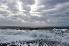 Storm Brewing (Keizerphoto) Tags: waves clouds landscape winter storm coast atlantic ocean ngysaex