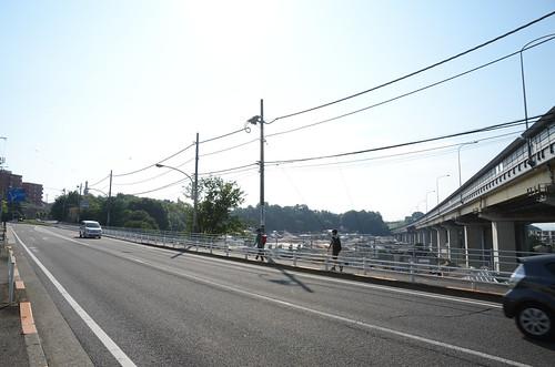 Koshu-kaido under Chuo Expressway in Hino