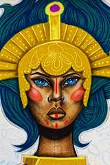 Mural queen by SADA aka Stéphane Assad (Edgard.V) Tags: paris parigi street art urban urbano arte callejero mural graffiti murales portrait portraiture retrato ritratto woman femme donna mulger rainha reine regina