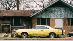 Status Symbols (Dysfunctional Photographer) Tags: car automobile house debris trash decay cloudy day rural perry arkansas 2020 usa nikon z7 nef raw lr broken