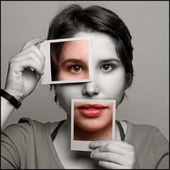 Polaroid Portrait (Rodrick Dale) Tags: polaroid portrait selective colour face concept