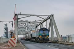 24/01/2019 | Antwerpen (SB-2013) Tags: lineas class 66 51310 antwerpen haven ijsland class66 noordkasteelbrug noordkasteelbruggen treinen goederentrein trein brug straatspoor belgie