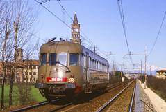 FS ALn 990.3004 Milano Chiaravalle 13/02/1988 (stefano.trionfini) Tags: train treni bahn zug railway fs aln990 milano chiaravalle lombardia italia italy