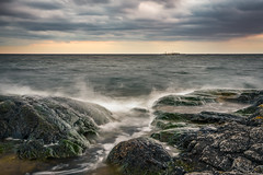 The Sea (Bill Ferngren) Tags: beach bill atmosphere balticsea atmospheric archipelago clouds landscape coast cloudy horizon dramatic coastline drama ferngren ocean sea nature rocks mood moody stones overcast myname seascape water sweden theglobe torö