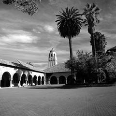 Center of Scholarship (Scott Holcomb) Tags: thequad stanforduniversity stanford california kиeb88c мир26в3545mmlens hoyasmcyk2ø82filter rolleiretro80sfilm blackwhite 120film 6x6 mediumformat epsonperfectionv600 photoshopdigitalization