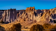 Late Afternoon in Plaza Blanca (LDMcCleary) Tags: plazablanca goldenlight goldenhour rocks cliffs whiteplace desert abiquiu newmexico georgiaokeeffe crags craggyrock