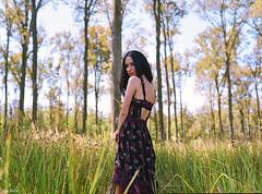 Matea (iascic) Tags: girl portrait nature flowers analogue mamiyam645 portra160