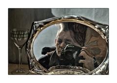 mirror distortion (Armin Fuchs) Tags: arminfuchs lavillelaplusdangereuse mirror self selfy selfportrait niftyfifty glass