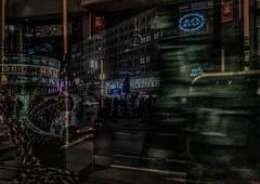 ....berlin alexanderplatz... (Renate R) Tags: berlin alexanderplatz bladerunner nacht night rikscha rickshaw peterbehrens motionblur tram weltzeituhr alexanderhaus
