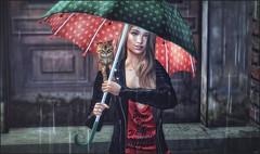 *I like people who smile when it's raining* ❤️ (Ⓐⓝⓖⓔⓛ (Angeleyes Roxley)) Tags: calm storm cat umbrella fashiowl poses sl secondlife rainy mainstore