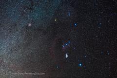 Orion with Dim Betelgeuse (Jan 25, 2020) (Amazing Sky Photography) Tags: 50mm bellatrix belt betelgeuse canon6dmkii constellation kenko m42 naturalnight nisi orion sigma skyguider dim faint filter ioptron