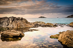 Cornwall (Jez22) Tags: photography jeremysage beach rocks view joke tide porth polly porthjoke pollyjoke sea england cloud water beautiful reflections coast cornwall dusk cove vista cornish northcornwall pollejouack copyright