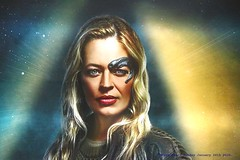 7 Of 9 (Jeri Ryan) ~ Star Trek Picard ~ Piccadilly Circus Underground Station ~ London ~ England ~ Sunday January 26th 2020. (law_keven) Tags: startrek startrekpicard picard london england jeriryan actress borg piccadillycircus undergroundstation adverts amazon amazonprime