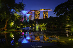 Gardens Blue Hour (rajaramki) Tags: singapore asia cityscape