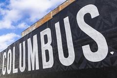 COLUMBUS_DSC0059 (GmanViz) Tags: gmanviz color sonya6000 sign mural lettering type columbus ohio wall sky
