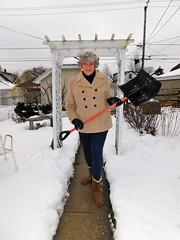 It's Hard Work Being A Woman (Laurette Victoria) Tags: woman laurette snow winter coat gloves boots