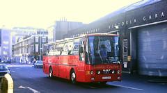 Slide 147-22 (Steve Guess) Tags: victoria london england gb uk coaches vanhool daf gillinghamstreet garage e313evh