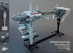 MOC EF76 Nebulon-B Escort Frigate - instructions available