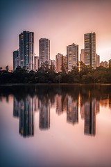 Sunset (marcelo.guerra.fotos) Tags: londrina igapólake igapó lagoigapó nikon sunset sun sunlight building water reflection
