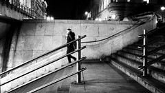 Passerby (Missing Pictures) Tags: girl subway underground stairs shot explored explore travel traveling blackandwhite white black europe eu hungary budapest monochrome peopleonthestreet people passerby streetphoto street