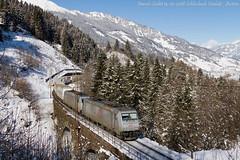 Col treno sta meglio (Daniele Sudati) Tags: ekol austria txlogistik txl schlossbachviadukt österreich bombardier 185 salisburghese ferroviadeitauri tauernbahn tauern rampanord nordrampe badhofgastein badgastein