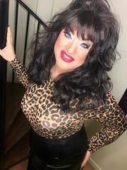 What's this..I'm smiling (Sissy kaylah) Tags: cd crossdresser crossdress crossdressing tv trannie trans transvestite tranny heavymakeup brunette