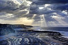 Only in the past (pauldunn52) Tags: beach glamorgan heritag coast wales sunburst