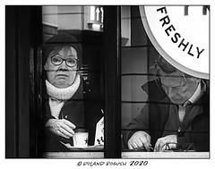 Separation 05 - behind bars (Roland Bogush) Tags: street sonyrx100mk7 blackwhite monochrome