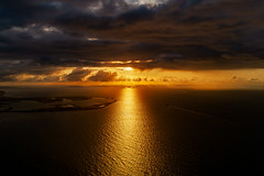 Flying over the Channel sea / North sea : Sunset (Benjamin Ballande) Tags: flying over channel sea north sunset