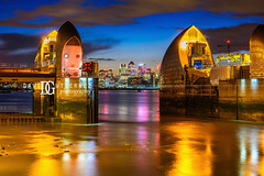 Thames Barrier (IV), London, UK (davidgutierrez.co.uk) Tags: london photography davidgutierrezphotography city art architecture nikond810 nikon urban travel color night blue uk londonphotographer photographer england unitedkingdom europe beautiful cityscape davidgutierrez britain greatbritain d810 street arts summer skyline buildings nikon2485mmf3545gedvrafsnikkor nikon2485mm iconic landmark people property 伦敦 londyn ロンドン 런던 лондон londres londra capital structure building river riverthames lowtide colors colourful colours colour streets attraction thames thamesriver eastlondon silvertown industrialiseddistrict bluehour twilight dusk lights light reflection longexposure thamesbarrier floodbarrier newcharlton amazing canarywharf le contemporary modern
