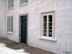 ... (Jean S..) Tags: old ancient manor museum door windows wall building white yellow green