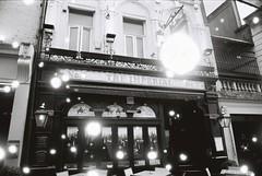 The Imperial (Snovlox) (goodfella2459) Tags: nikonf4 revologsnovlox100 35mm blackandwhite film analog city london pub building sign bwfp theimperial