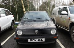 1986 VW Golf C (occama) Tags: d212acg 1986 vw golf volkswagen black old german car cornwall uk