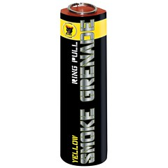 Yellow Smoke Grenade by Black Cat Fireworks