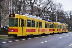 242 (200er Serie) Tags: schienenfahrzeug blt baselland transport ag gelb 200er serie schindler waggon pratteln tram drämmli