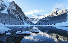 Lake Louise (Anthony Mark Images) Tags: reflections snow ice snowcoveredtrees mountains rockymountians water lakelouise alberta canada beautiful lovely people pretty nikon d850 flickrclickx