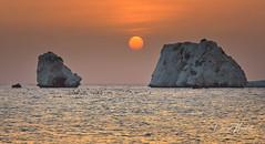 Aphrodite's Rock, Pafos, Cyprus (daryl nicolet) Tags: paphos cyprus aphradites rock mediterranean ocean sunset water orange myth canon 24105 f4 eos ef 5dm3 5dmiii