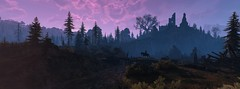 """""""Purple Skies"""" (HodgeDogs) Tags: tree grass openworld redengine cdpr cdprojectred witcher witcher3 larahjohnson nvidia pc games gaming inexplore explore silhouette photography horse videogames purple sky skybox"""