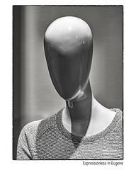 Expressionless in Eugene (NoJuan) Tags: 425mm olympus olympuspenf getolympus microfourthirds micro43 mirrorless m43 mft mannequin bw blackwhite blackandwhite digitalbw silverefexpro