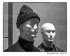 Keeping Watch Cap (NoJuan) Tags: stockinghat hat watchcap mannequin storedisplay storedummy microfourthirds micro43 mirrorless m43 mft penf olympuspenf 425mm panasonic425mm silverefexpro bw blackwhite blackandwhite digitalbw